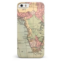The Vintage African Map iPhone 5/5s or SE INK-Fuzed Case