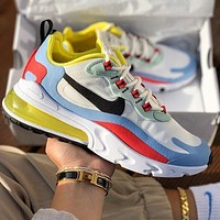 NIKE air max 270 Fashion men's and women's shoes cushion cushioning sports shoes casual running shoes