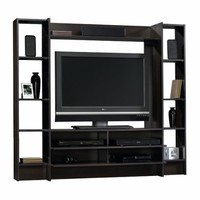 Entertainment Center Wall System - Cinnamon Cherry Finish