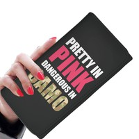 'Pretty in Pink, Dangerous in Camo' [Country Girl] Women's Clutch Purse Wallet