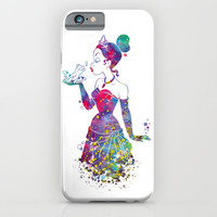 Princess Tiana The Princess and the Frog Watercolor iPhone & iPod Case by Bitter Moon