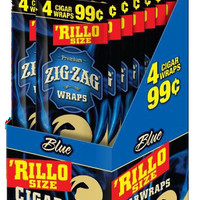 Zig Zag 'Rillo Size Wraps - Blue (Box of 60)