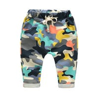 New Fashion Baby Pants Spring Summer Autumn Camo Print Kids Harem Pants Boys Pants Girls Leggings Children Trousers Baby Clothes