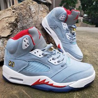 "Air Jordan 5 x Trophy Room ""Ice Blue"""