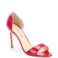 Manolo Blahnik - Catalina Patent Leather d'Orsay Sandals