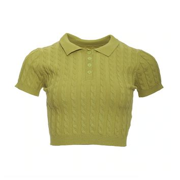 Madeline Cropped Polo Top