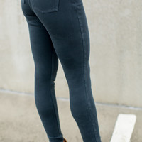 SPANX Jean-ish Leggings - Steel