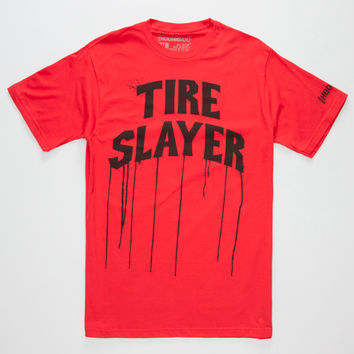 Hoonigan Tire Slayer Mens T-Shirt Red  In Sizes