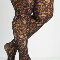 Best Seller Intricately Exquisite Tights - Extended Size Size PLUS by ModCloth