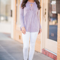 The Sawyer Top, Lilac