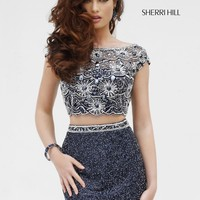 Sherri Hill 11281 Beaded 2 Piece Cocktail Dress