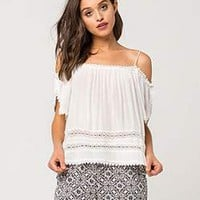 BOZZOLO Lace Up Womens Crop Tee