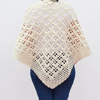 crocheted shawl for women