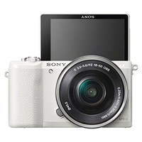 Sony a5100 16-50mm Mirrorless Digital Camera with 3-Inch Flip Up LCD (White)