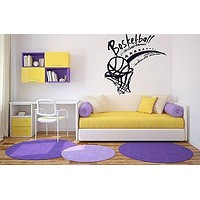 Wall Sticker Vinyl Decal Basketball Basket Ball Sport Competition Victory Unique Gift (n096)