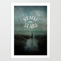 Reach for the Stars Art Print by Olivia Joy StClaire