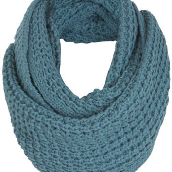 Blue Knitted Snood - View All  - New In
