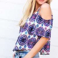 Gypset Southwest Print Off Shoulder Top