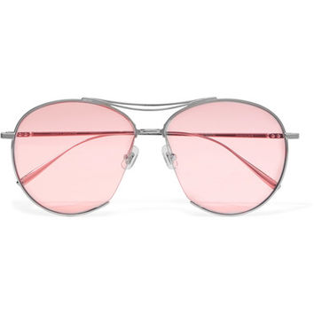 Gentle Monster - Jumping Jack aviator-style silver-tone sunglasses