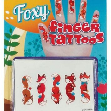 Foxy Temporary Finger Tattoos Case Pack 36