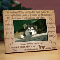 Loyal Dog Wood Picture Frame