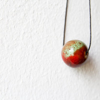 Minimal Earthy Bead Necklace