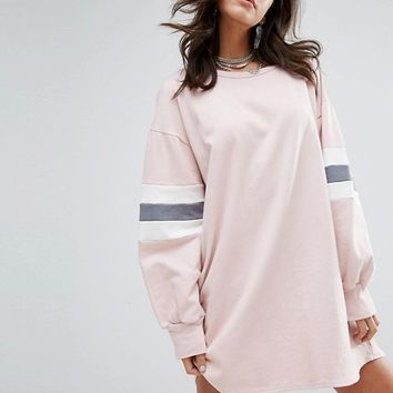 PrettyLittleThing Color Block Sweater Dress at asos.com