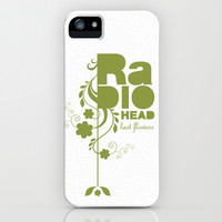 """Radiohead """"Last flowers"""" Song / Green version iPhone & iPod Case by LilaVert"""