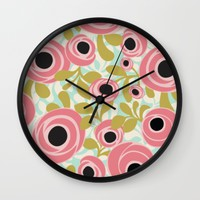 wonderland. Wall Clock by Pink Berry Patterns