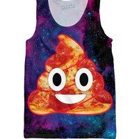 Pizza Space Poop Tank Top