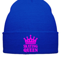 skating queen EMBROIDERY HAT - Beanie Cuffed Knit Cap