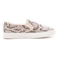 Zoe Snakeskin Slip-On Sneakers