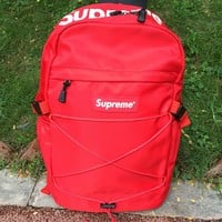 Unisex Supreme Canvas Backpack College High School Bag Travel Bag