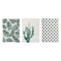 Cotton Jade Kitchen Towel in Green & White, 3 Styles