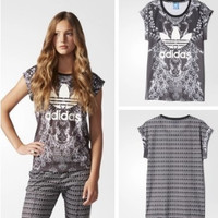 """Adidas"" Women Fashion Casual Pattern Short Sleeve T-shirt"