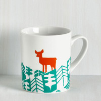 Critters Earth the Wait Mug in Deer by ModCloth