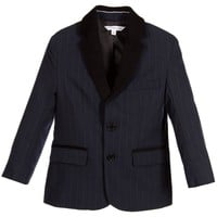 Little Marc Jacobs Navy Blue Pinstriped Blazer