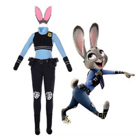 Cosonsen Zootopia Zootropolis Rabbit Officer Judy Hopps Cosplay Costume Halloween Costumes For Women Disfraces Adultos Carnival