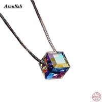 Ataullah 925 Silver Candy Women Jewelry Necklace & Pendants Sterling Silver Austrian Crystal Pendant Certificate Verify NWP003
