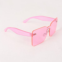 Rimless Rectangle Mask Sunglasses