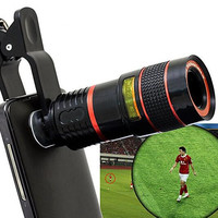 Smartphone 8X Zoom Clip-On Camera Lens