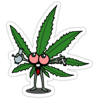 'Yay weed leaf' Sticker by ChronicLeaf