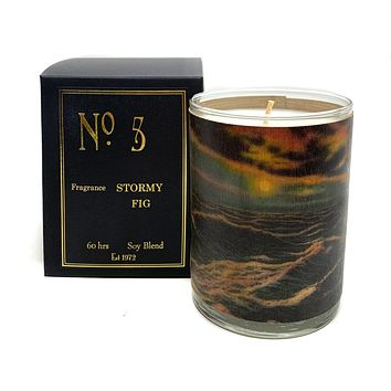 Wood Candle No. 5 Stormy Black Fig