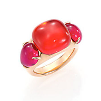 Pomellato - Rouge Passion Tangerine Three-Stone Ring - Saks Fifth Avenue Mobile