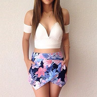Floral Print Two-Piece Dress