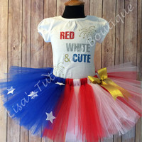 Red, White, and Cute 4th of July Tutu Set