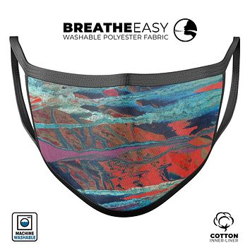 Abstract Wet Paint v92 - Made in USA Mouth Cover Unisex Anti-Dust Cotton Blend Reusable & Washable Face Mask with Adjustable Sizing for Adult or Child