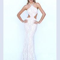 Cut Out Waist Sherri Hill Formal Prom Gown 50018