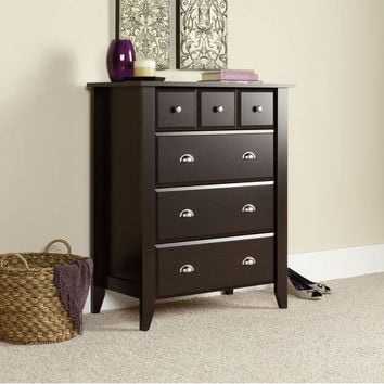 4 Drawer Bedroom Chest in Jamocha Dark Espresso Finish - Made in USA