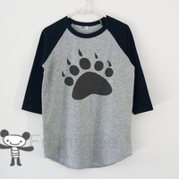 Bear paw raglan shirt for kids toddlers boys girls tops Baby clothes